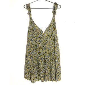 Free People NWT Yellow floral mini dress
